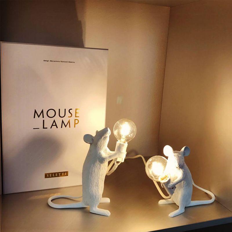 Lampade da tavolo moderno del mouse LED Seletti Desk lampade da scrivania per camera da letto soggiorno standing arte comodino lampada a decorazioni per lampada Abajour Light Fixtures