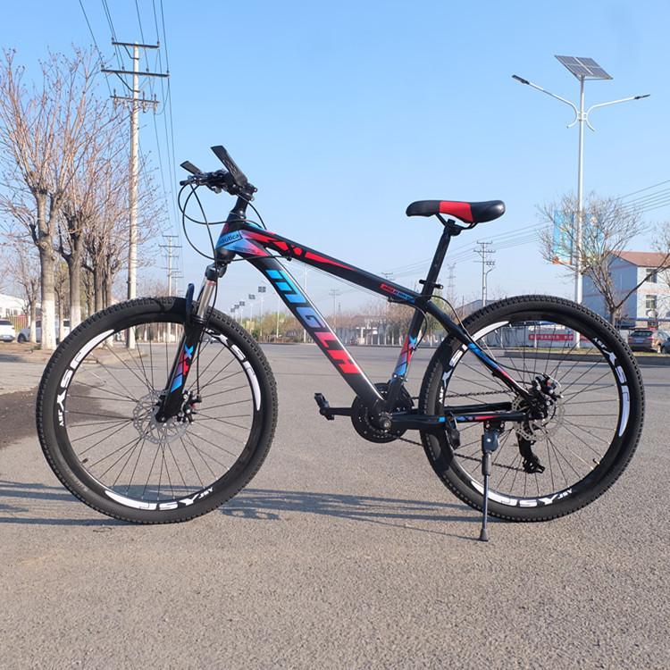Moto directo de fábrica de 26 pulgadas de 24 velocidades bicicletas de montaña hombres y mujeres adultos Hongze de acero al carbono de coches de carretera de doble freno de disco