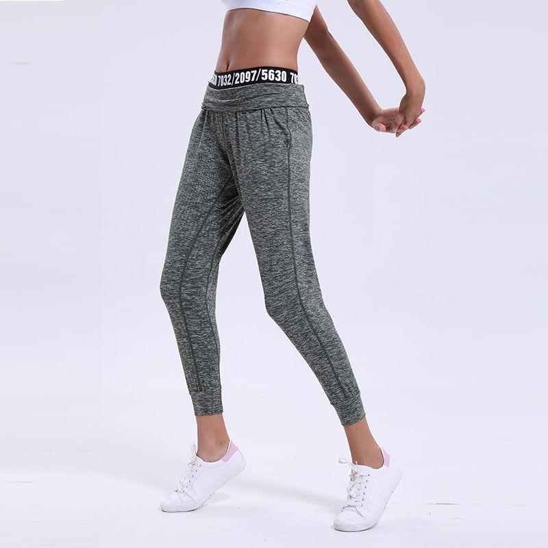 Lu pantalones cintura carta ocio deportes Harun pantalones profesional Fitness correr Yoga deportes pantalones Leggings traje