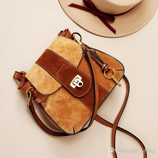 Designer nouveau cuir dame simple sac haute couture de qualité casual sac de selle givré boucle de verrouillage sac bandoulière à l'épaule unique épaule