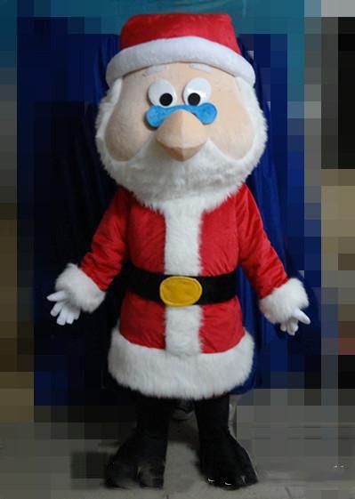 2020 neue Qualität des Kopf rote Weihnachtsmann Maskottchenklage für erwachsenen Weihnachtsmann Cartoon Kostüm