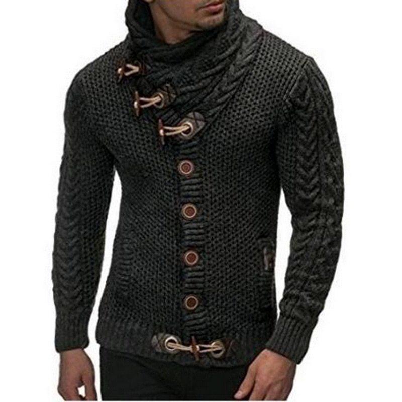 Herbst Winter 2019 Mode Lässig Strickjacke Mantel Mens Slim Fit Taste Warme Strickkleidung Pullover Mäntel Männer