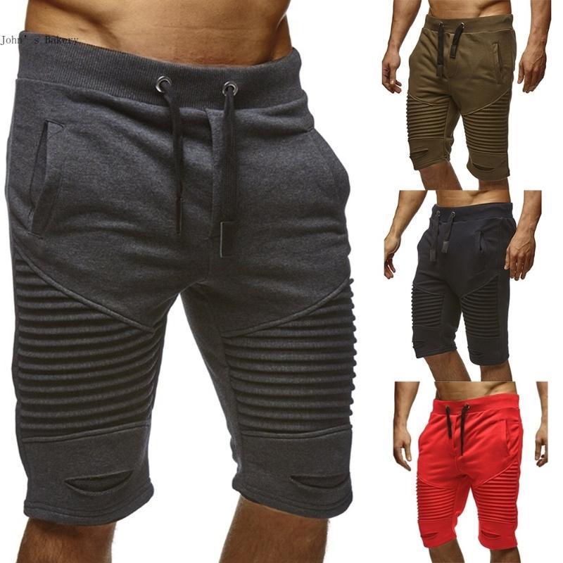 Leelion 2020 Летняя Новая мода Фитнес Шорты Мужчины Упругие кулиской Ppocket Fast Dry Мужская одежда хлопка повседневные мужские шорты