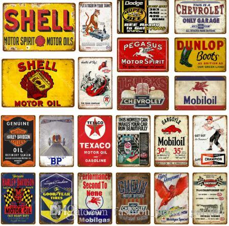 HOT Vintage Metal Tin Signs For Wall Decor Rock Music Warning Iron Paintings Metal Signs Tin Plate Pub Bar Garage Retro Home Decoration