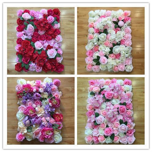 5 colores pintados de fondo de pared rojo rosa belleza fondo de la boda decoración de la ventana de la pared flores imitadas envío gratuito