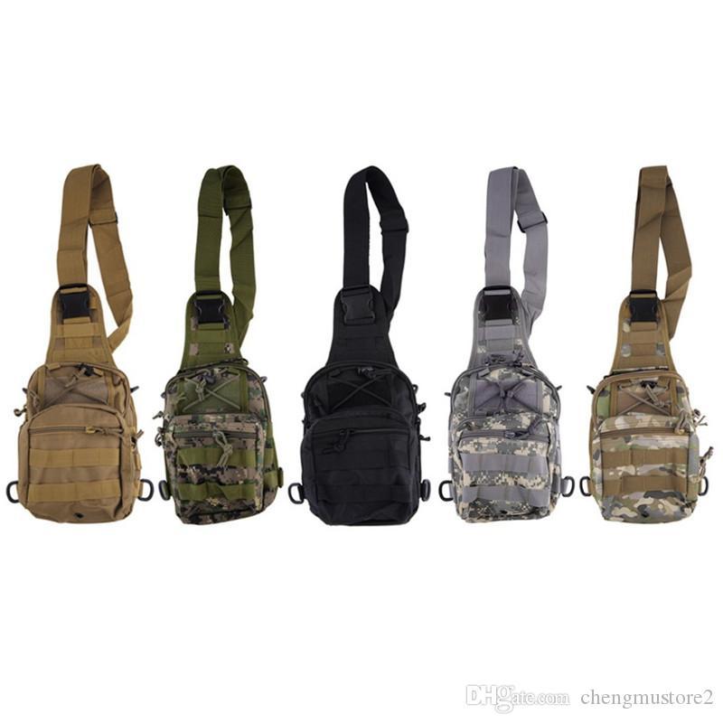 toile explosif sport camouflage équitation d'extérieur en plein air petit sac de poitrine sac téléphone mobile enjambeur épaule single extérieur sac tactique