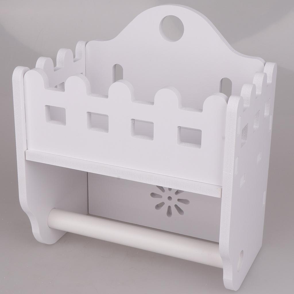 2 em 1 Papel Tissue Titular Toalha de Banho WC rolo Dispenser Branco