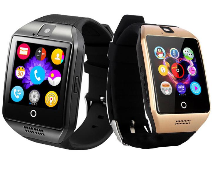 Hot Sale Curved Touch Screen Q18 Sport Smart Watch Bluetooth Wrist Watch For Andriod Cellphones Support SIM Card Camera Answer Call Watches