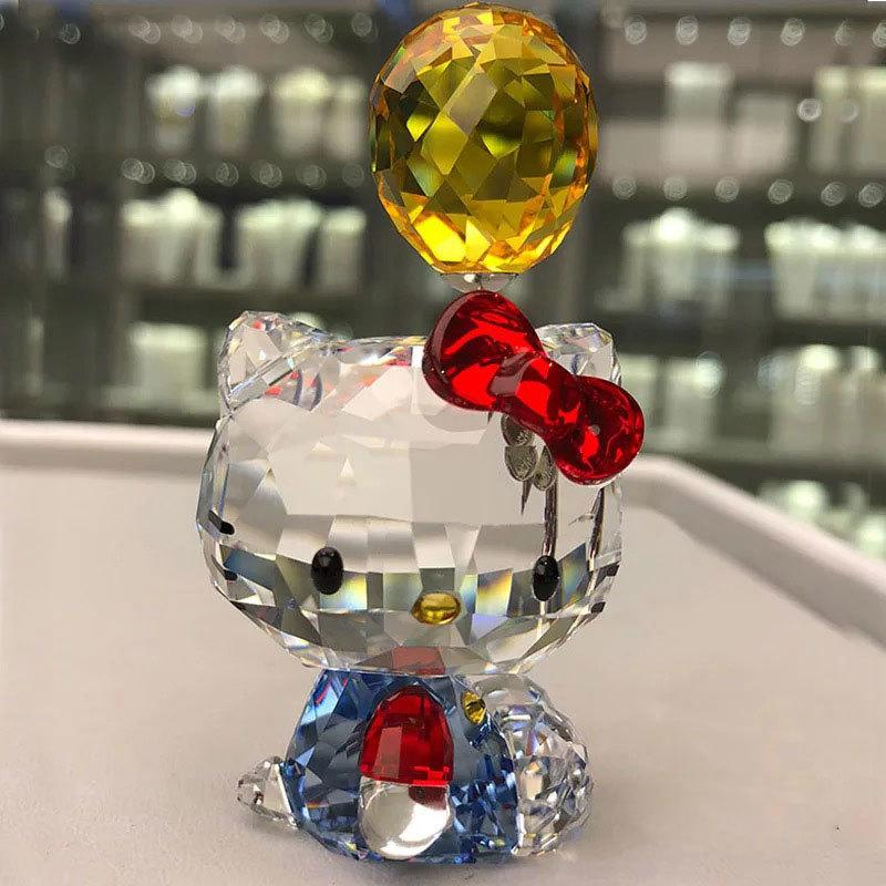 Cristal de haute qualité chat de bande dessinée Figurines Ornement voiture Chat Aniaml Paperweight cadeau de mariage Multicolor Intérieur, Lady Favor cadeau Y200106