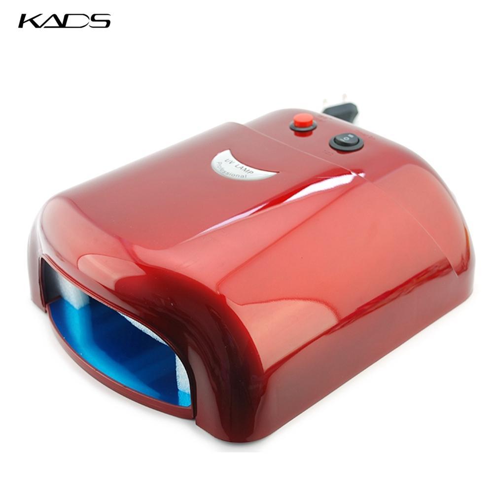 KADS Rose UV-Lampe 36W Gel Curing-Nagel-Kunst US EU-Stecker 4pcs 365nm UV-Birne DIY Werkzeuge für UVnagel Lampe Maniküre 48W Rosa LED-Lampe T200527