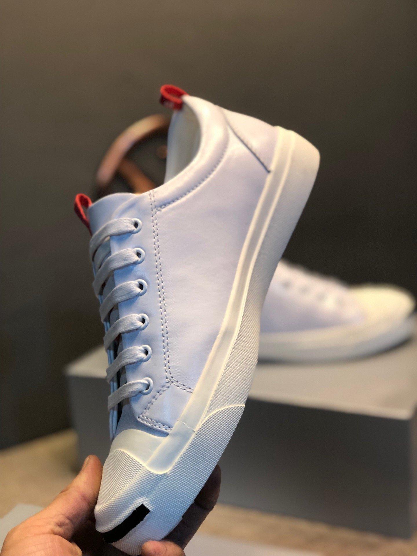 2019 высокого качества Zapatos де Diseñador пункт HOMBRE мужских кроссовки белый кожаный ремешок с смайлик Тарелка формной прогулки обувью