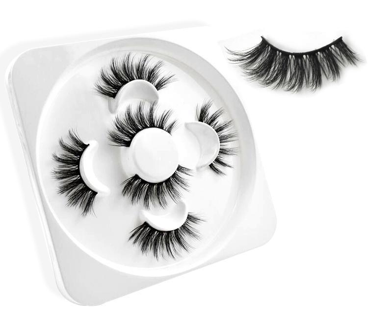 Nuovo 3pairs 3D visone ciglia naturali lungo ciglia finte Volume falso frusta il trucco di estensione ciglia maquiagem