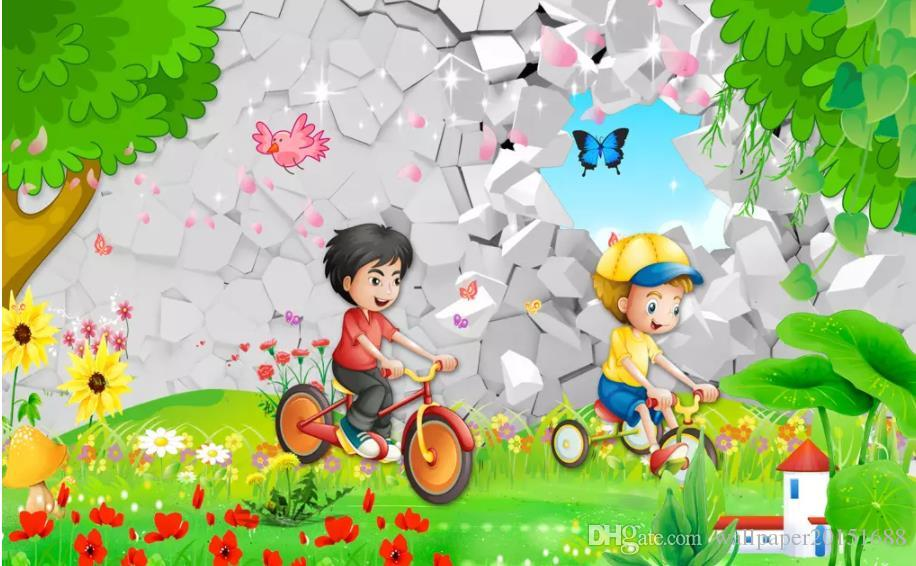 Childrens Paradise 3d Beautiful Scenery Cartoon Childrens Room Kids Room Mural Download Wallpaper Download Wallpapers From Wallpaper20151688 5 74 Dhgate Com