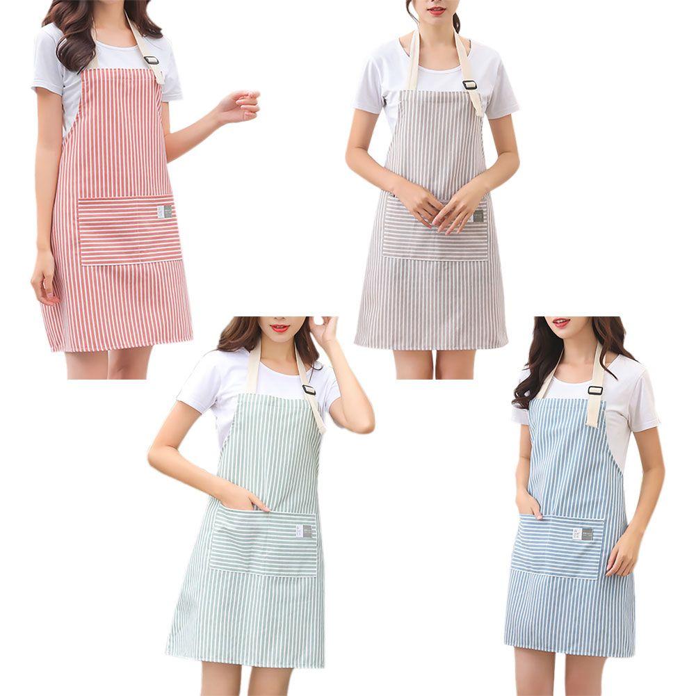Aventais De Cozinha Ajustável Para As Mulheres Pinafore Cozimento Barista Cinza Azul Restaurante Flor Curta Loja Macacão Avental Vestido