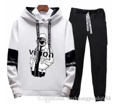 Primavera Outono agasalho calças Treino Set Homens hoodies mulheres Mens Clothing moleton Casual Desportivo Treino fato de treino Hip hop