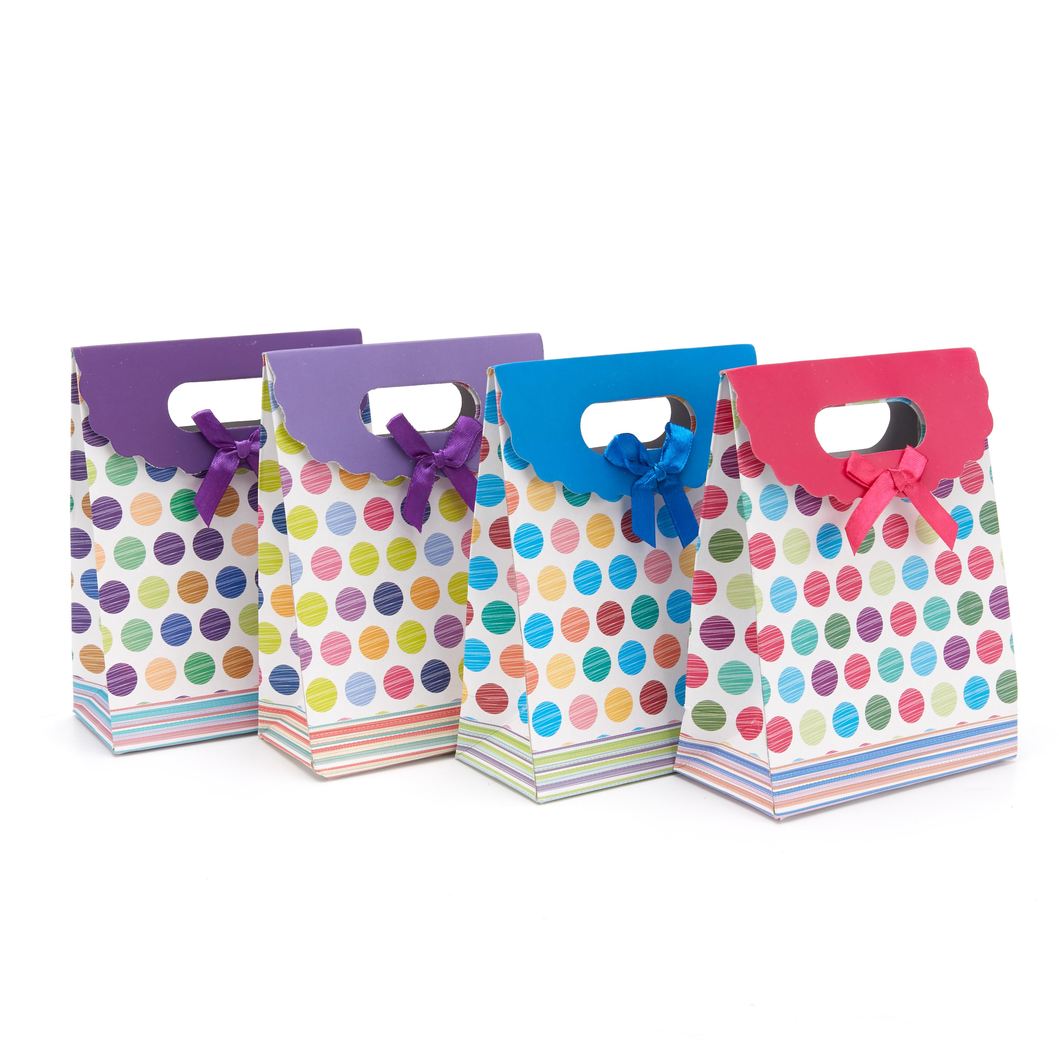 Small fresh and cute envelope paper gift bag without handle bow 12 * 6 * 16 in stock, customizable pattern