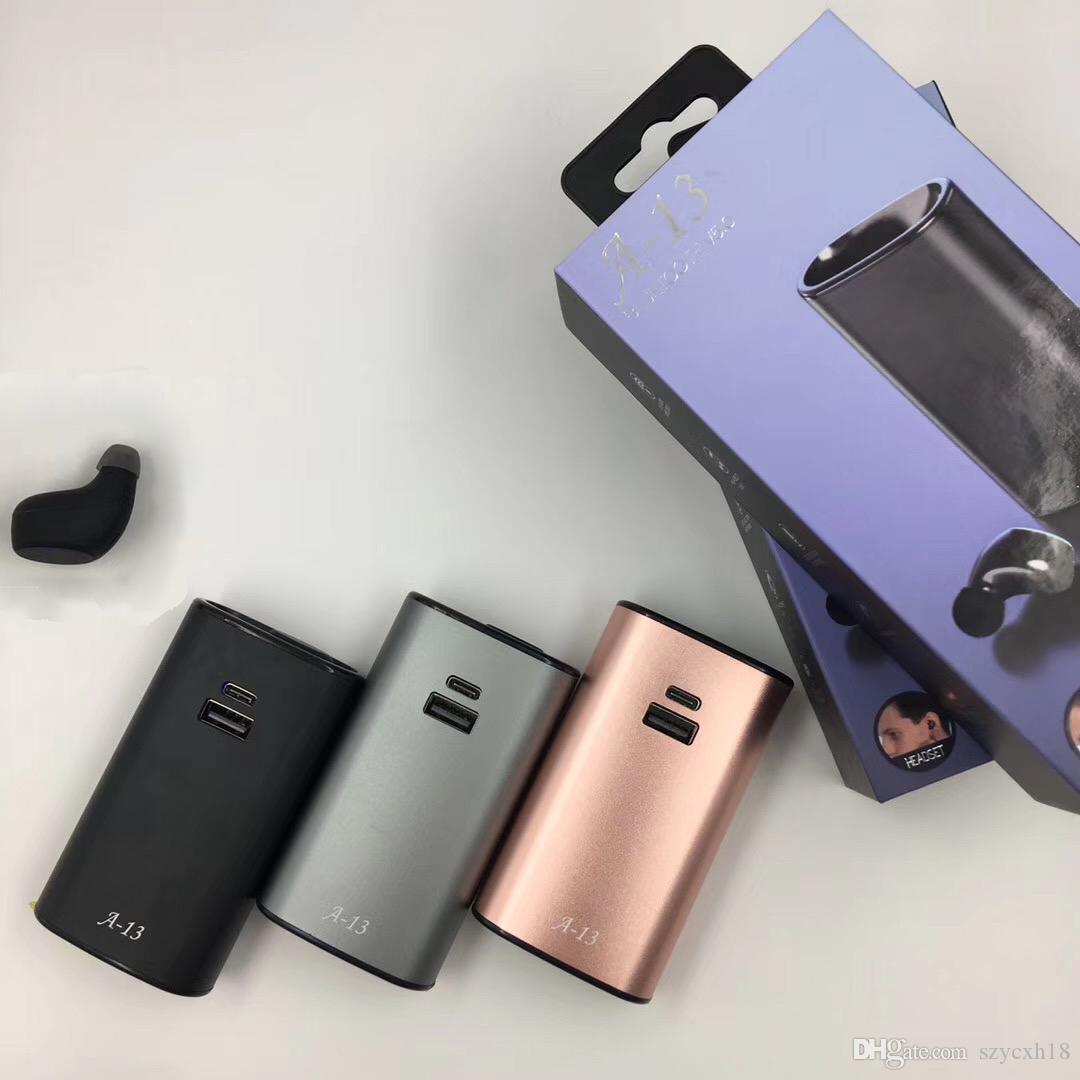 Mobil güç ve çakmak kulaklık Bluetooth 5.0 kulaklık Kablosuz Kulaklık A13 Çok fonksiyonlu mini Car hea ile A13 Tek Kulaklık