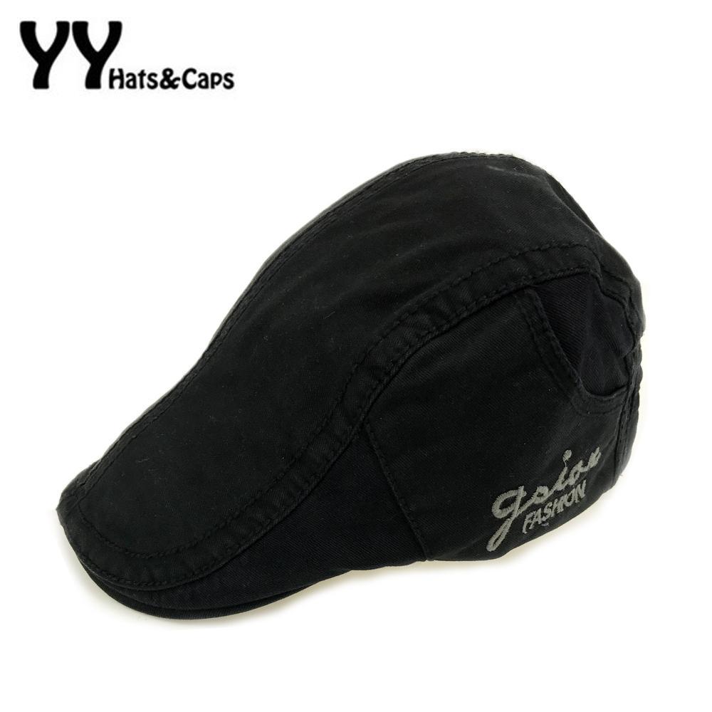 Письмо вышивка беретов Мужской плед хлопок Берет Flat Caps Моды ретро Повседневного Painter шляпы Сетки для взрослых Unisex AdjustableYY7061