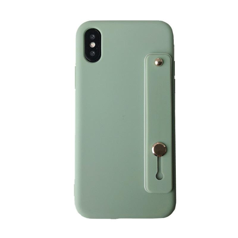 Caso do suporte do telefone móvel para iphone12 7 8 11PRRO MAX XR XS Auto-adesivo pulseira pulseira Caixa de cordão caso de silicone capa de volta luxo casos