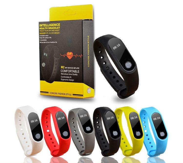 Оптовая продажа м2 смарт браслет смарт часы монитор сердечного ритма bluetooth Smartband Здоровье Фитнес смарт браслет для Android iOS трекер активности