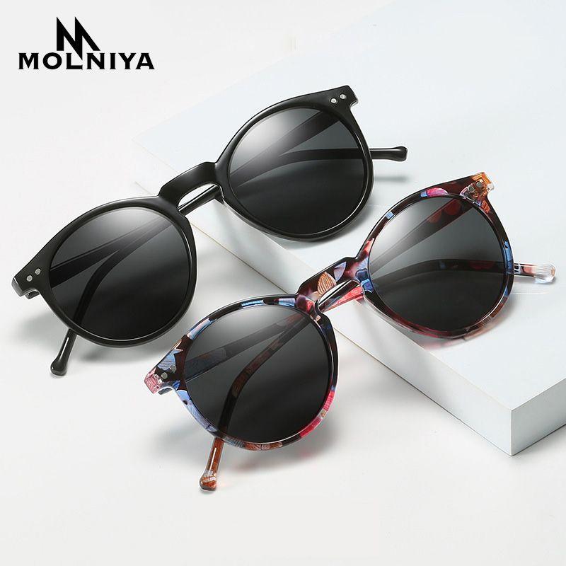 Polarizado quadro dos óculos de sol das mulheres dos homens condução ronda Sun Óculos Retro Masculino Feminino Goggle UV400 Shades Oculos Óculos de Sol