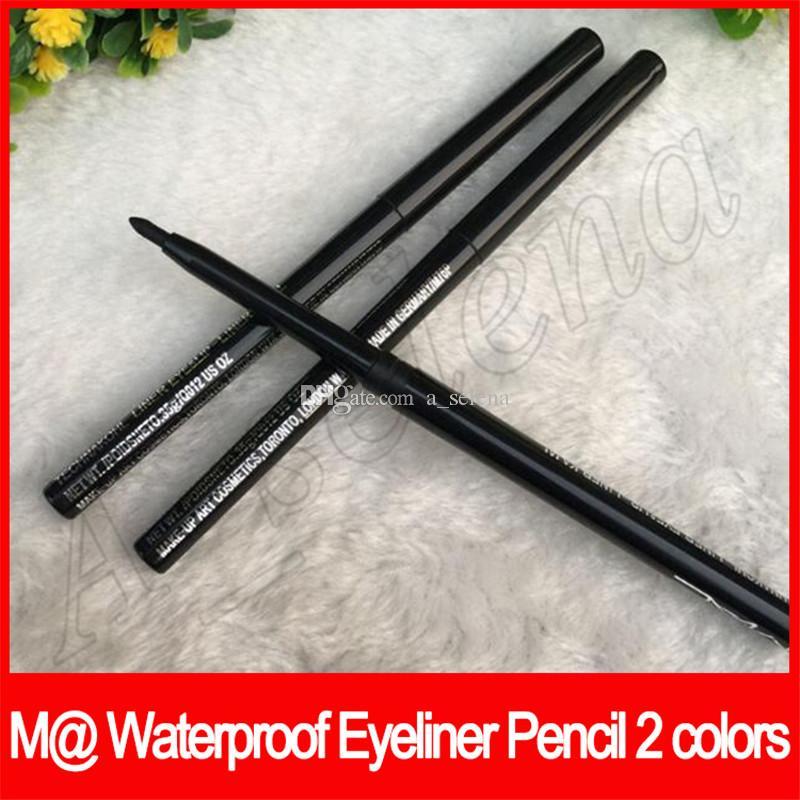 EyeLip بطانة كاجال M @ ماكياج العين كحل قلم رصاص التلقائي للتدوير قلم الحواجب للماء أسود / البني 2 الألوان