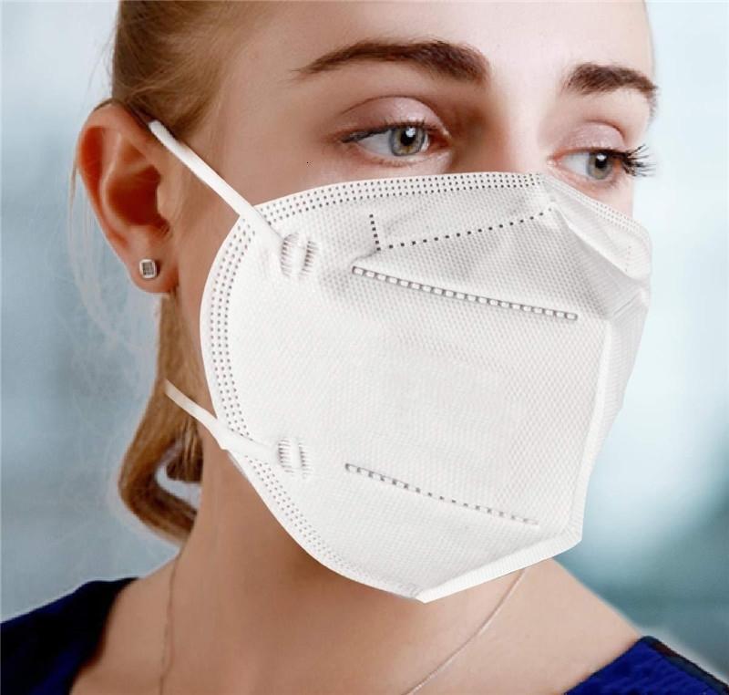 Maschere K faccia, bianco Cina antipolvere Anti-Fog e traspirante Viso Maschere 95% Maschere Bocca di filtrazione a 3 strati Bocca muffola er il trasporto veloce