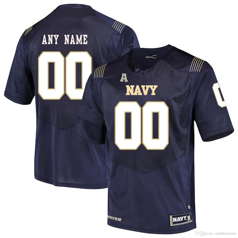 Benutzerdefinierte Herren Jugend Navy Midshipmen Jeder Name Jede Nummer Personalisierte Kinder Mann Zuhause weg NCAA College Football Trikots