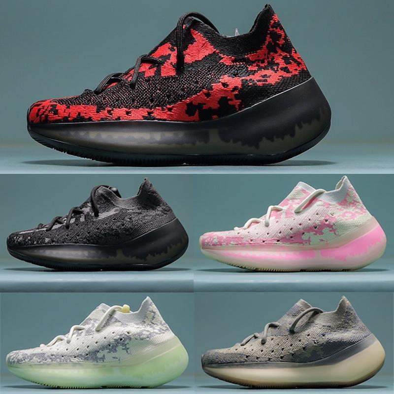 Economici 2020 Nuovo Kanye West corridore dell'onda 380 aliene formatori Toddler bambini Scarpe Funzionare dei bambini delle scarpe da tennis Solid scarpe delle ragazze di sport con la scatola