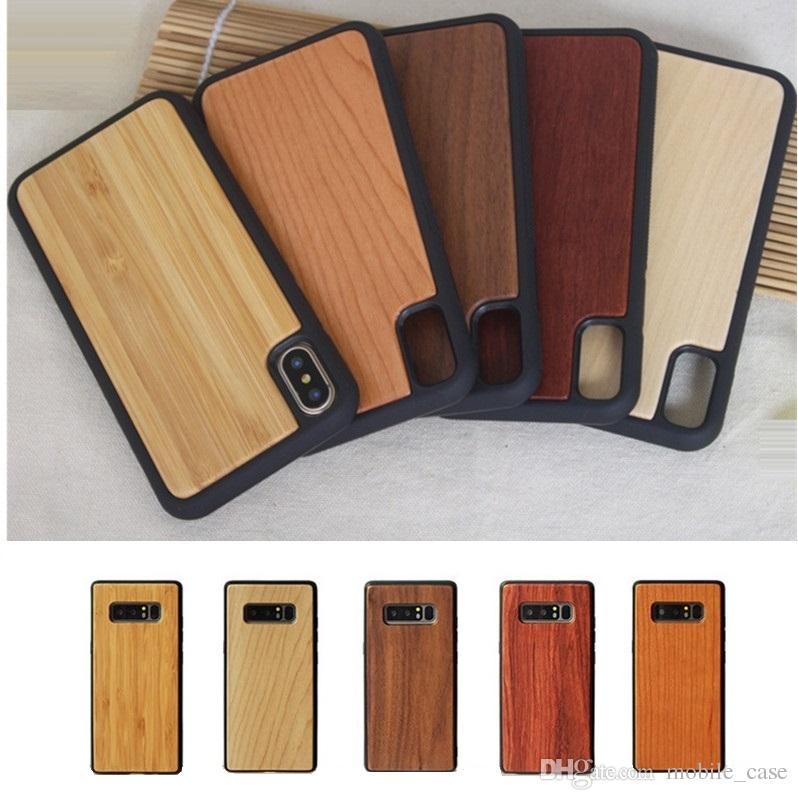 الخشب الطبيعي لينة tpu حالة الهاتف خشبية ل فون xs ماكس xr x 6 7 8 زائد صدمات حماية القضية غطاء لسامسونج s10 زائد s9 s8 ملاحظة 9