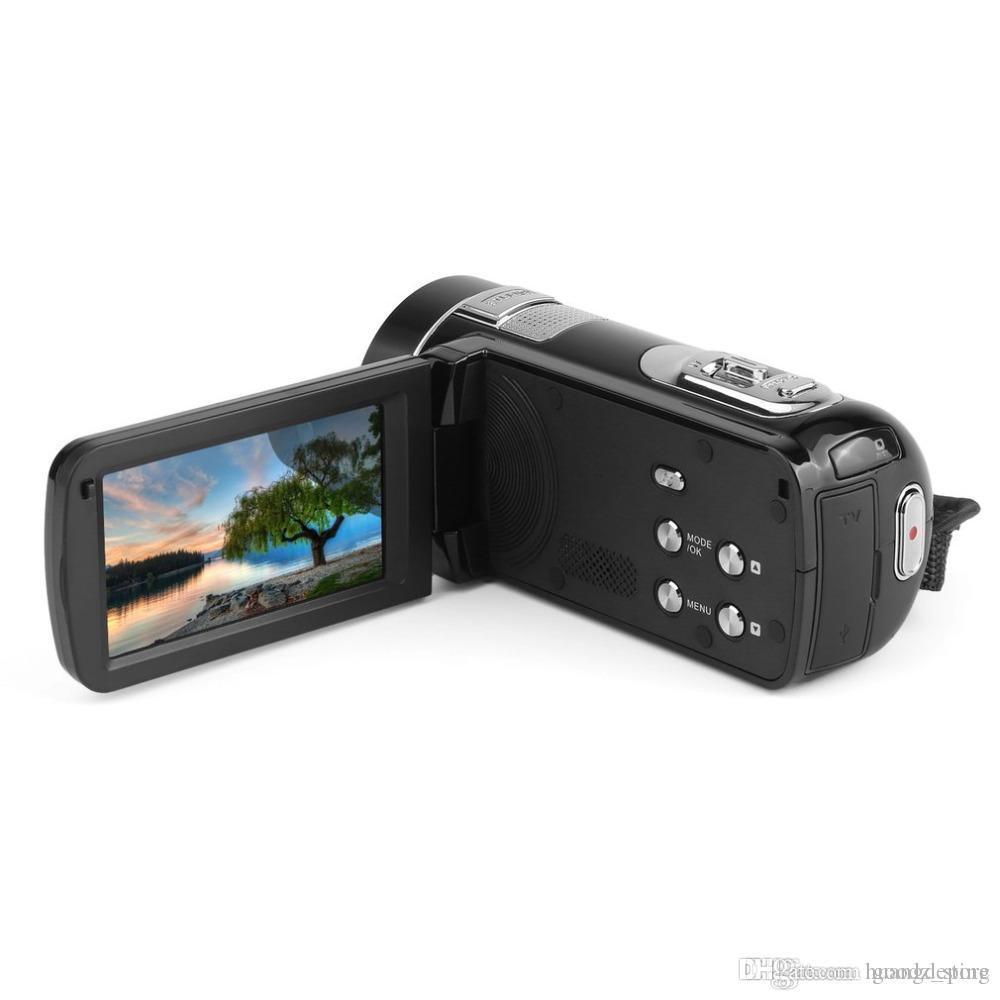"""Kızılötesi Gece Görüş Uzaktan Kumanda Handy Kamera HD 1080 P 24MP 18X Dijital Zoom Video Kamera DVwith 3.0 """"LCD Ekran DEYIOU"""