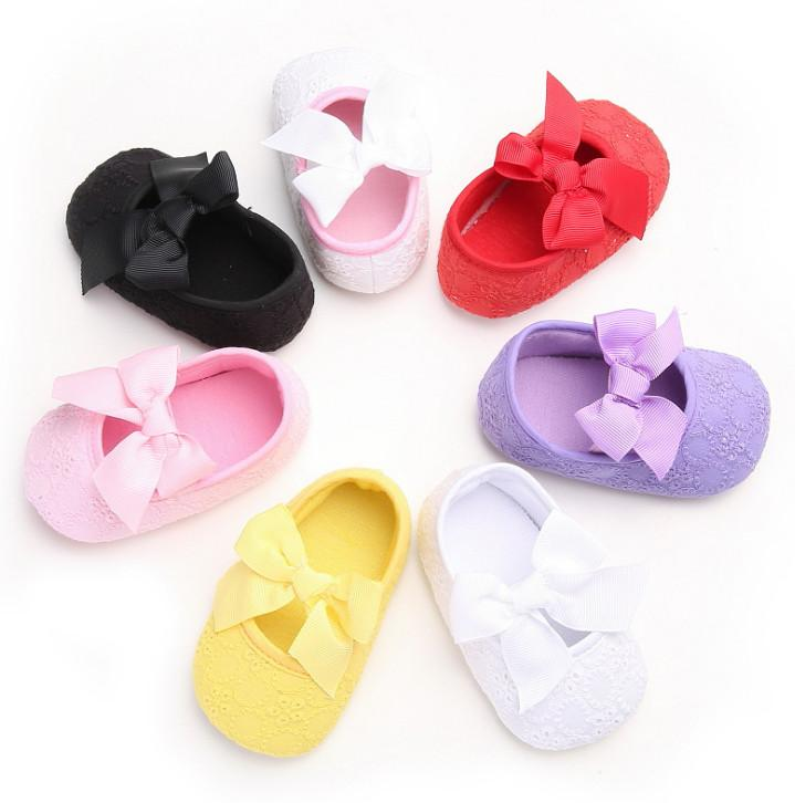 Toddler Infant Baby Girls Lace Princess Shoes First Walkers Kids Shoes