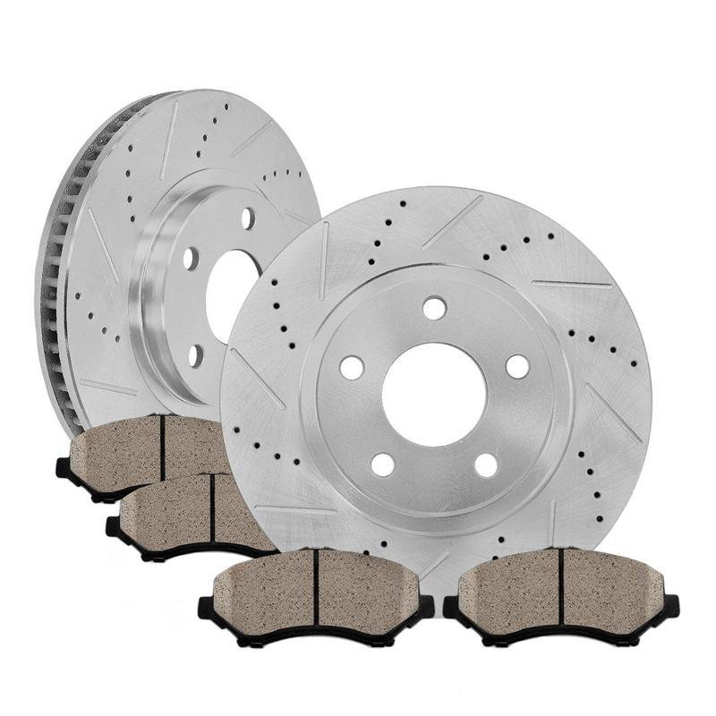 Front Coated Disc Rotors /& Ceramic Brake Pads Fits Kia Sorento