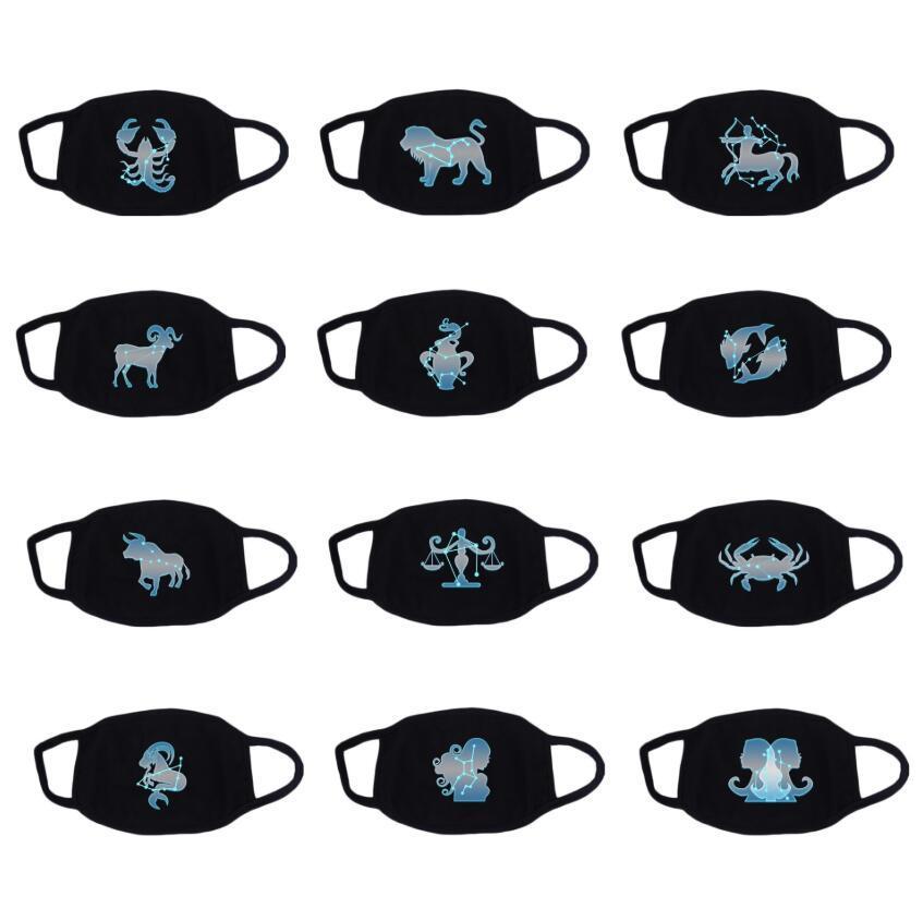 Doce negro máscaras constelación Boca máscara facial historieta del animado máscara máscaras anti-polvo de la boca de mufla lavable reutilizable del partido unisex