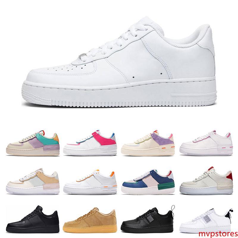 2020 zapatillas de deporte de moda para hombre Shadow Beige Pale Ivory negro blanco Spruce Aura Wheat Flax mujeres zapatos de skate casuales tamaño de la plataforma 36-45