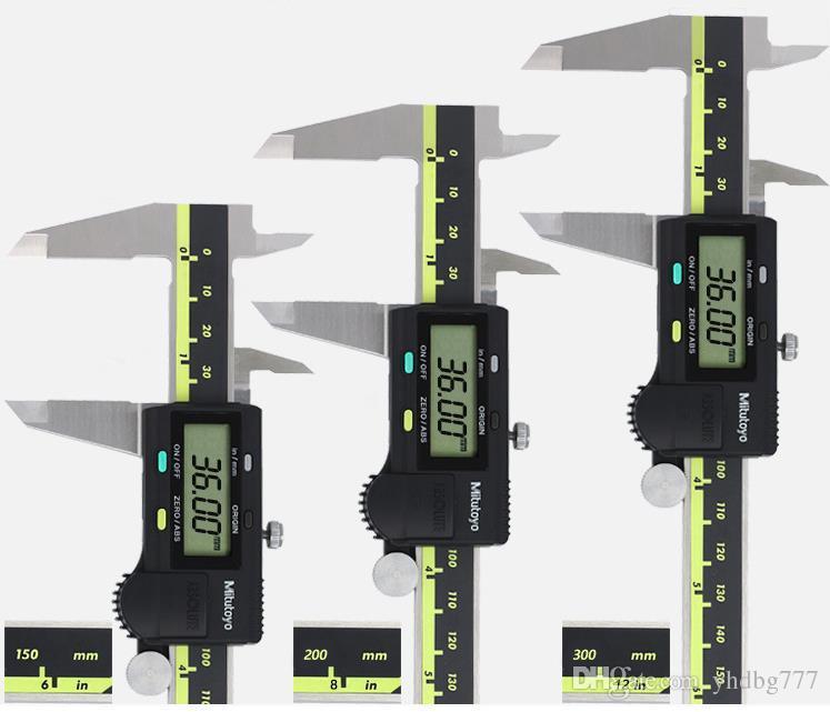 """LCD Digital Noniusschieber elektronische Messgeraet Mikrometer 200mm 0-8/""""  NEU"""