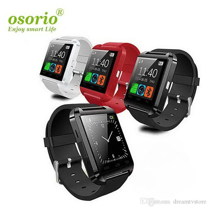 Bluetooth Smart Watch d'U8 sans fil Bluetooth à écran tactile intelligent montre avec carte SIM slot pour Android IOS téléphone