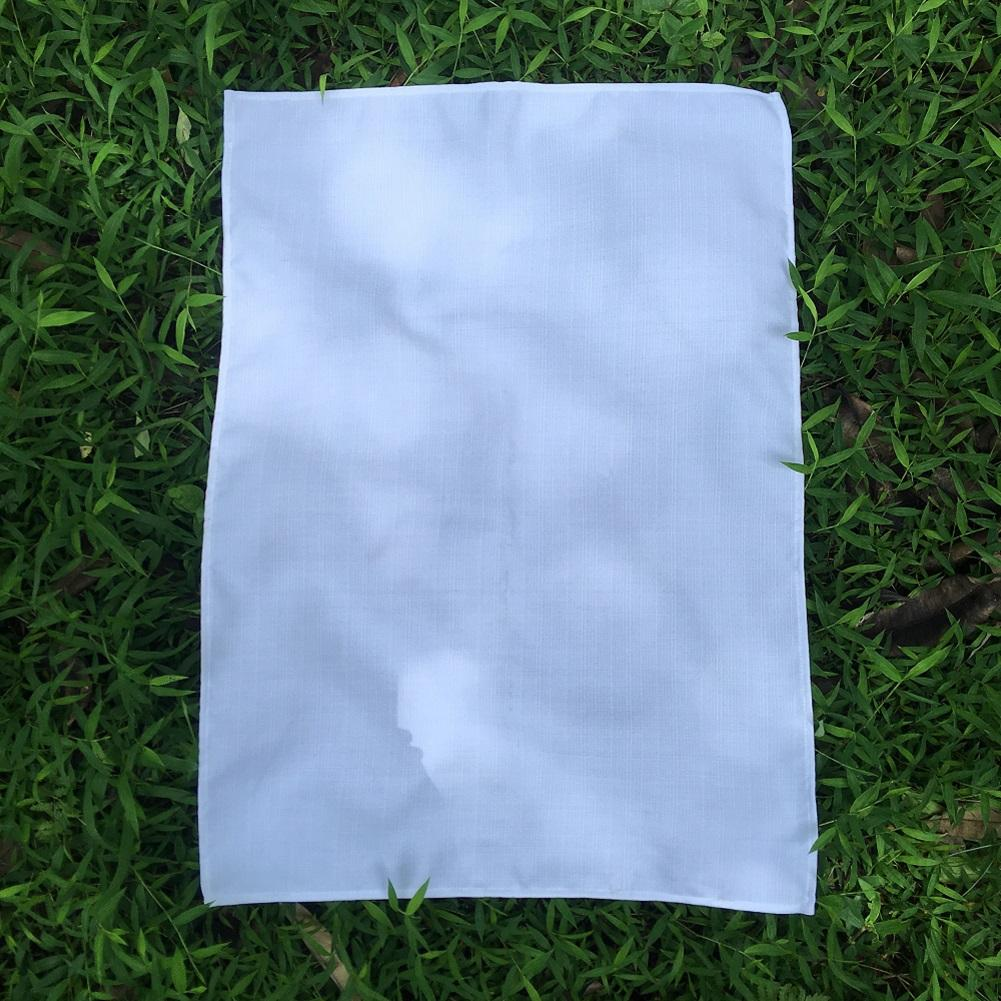 100٪ منشفة البوليستر الكتان الشاي عادي الأبيض لينة فارغة مطبخ طبق منشفة 50x70 سم لالتسامي