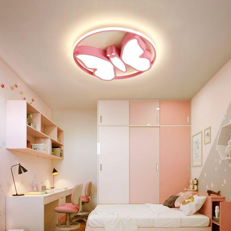 Современные люстры водить свет младенец комната дети домашних огней для детской комнаты Спальни девочек мальчиков освещая розовую белую люстру лампу