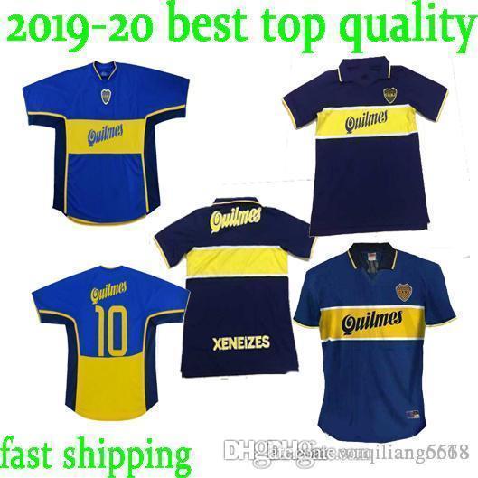 Calidad superior en stock 1997 1998 Boca Juniors Jerseys de fútbol Retro 97 98 Gago Tevez Cardona Benedetto Camisa de fútbol Pavon Camisetas de Futbol