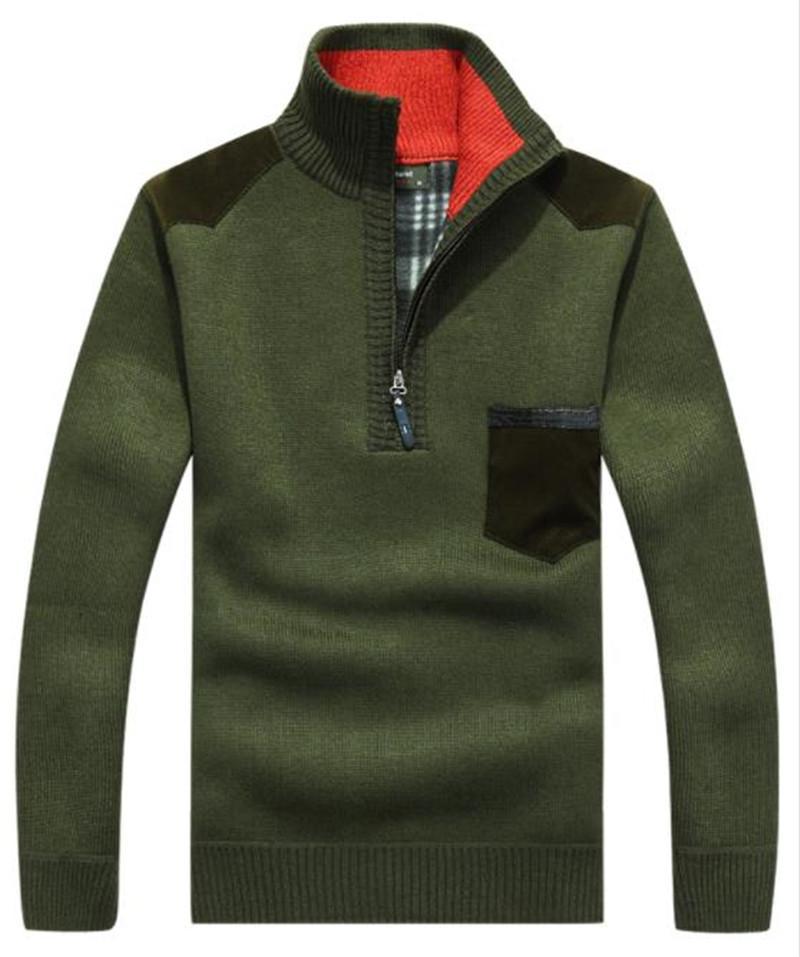 2020 Männer Pullover Designer Winter-Rollkragen Langarm-Pullover Thick Männer Pullover beiläufige Taschen Männerkleidung