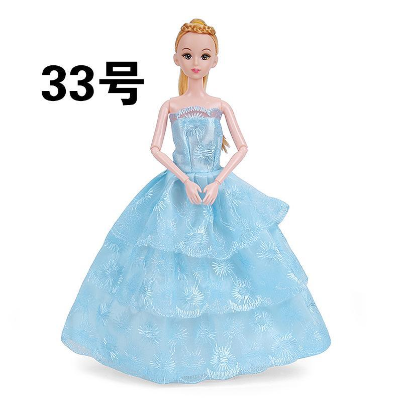 2020 Cute 30cm 11 Inches Barbie Doll Wedding Dress 28 Lovely Style Clothes Princess Dress Evening Dress For Party Xmas Kid Birthday Gift 2 2 From Nankingzi 0 44 Dhgate Com