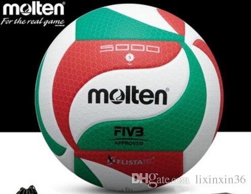 Molten Soft Touch Volleyball Ball V5M5000 A +++ جودة المباراة والتدريب الكرة الطائرة الحجم الرسمي والوزن voleibol volleyball