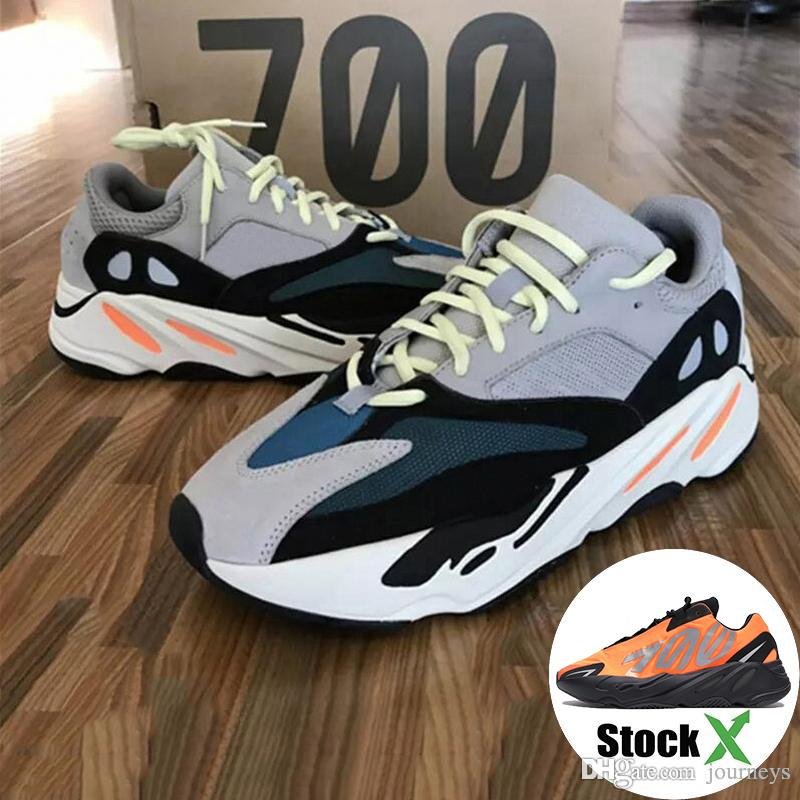 700 Wave Runner 2020 New Kanye relective orange tie-dye Women Carbon Teal Blue Static Sports Running Sneakers Men Shoes With Box