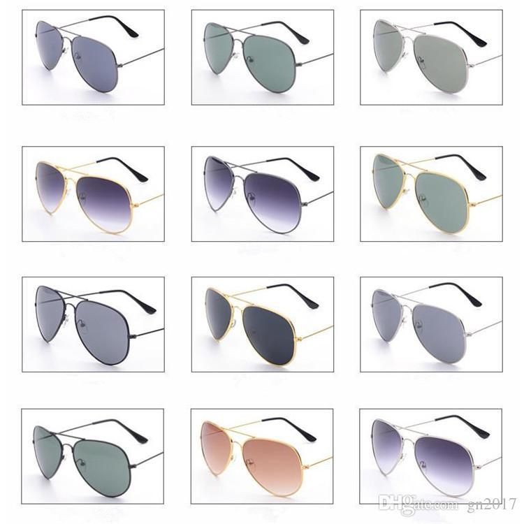 Moda Feminina Homens Clássico Espelho Piloto Espelho óculos de Sol Óculos de Sol Anti-UV Espetáculo de Condução Espelho Óculos De Sol Óculos Um ++