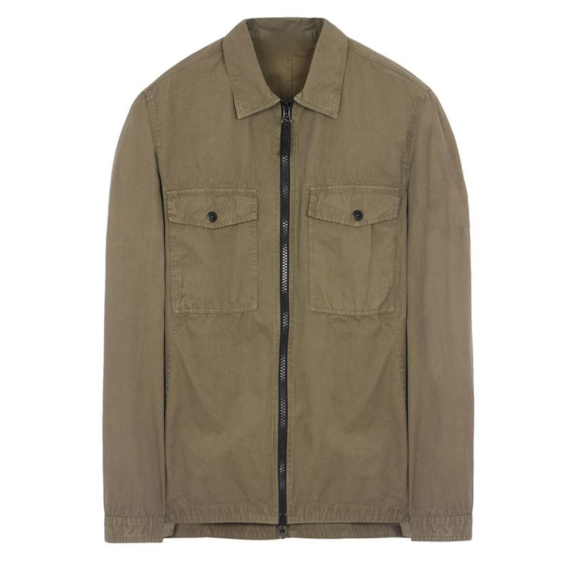 Fashion-18FW OVERSHIRT OLD GARMENT DYE рубашка Мужчины Женщины куртка Facshion пальто хлопка Top HFLSJK324