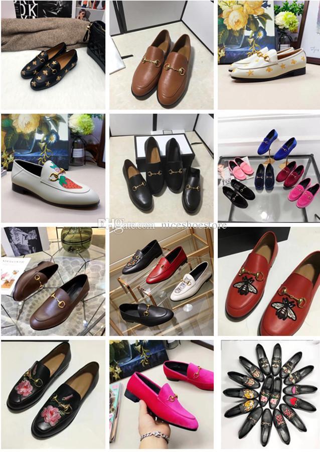 erkekler kadınlar deri kadife horsebit toka nakış kaplan lüks moda ayakkabılar erkek kadın boyutu EUR34-45 için 2019 Yeni Tasarımcı makosenler