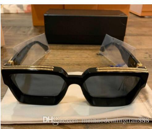Роскошные мужчины M96006WN Солнцезащитные очки для кадров Винтажные продажи Солнцезащитные очки Дизайнер Горячий блестящий верхний миллионер логотип 96006 позолоченный золотой полный QPNPH