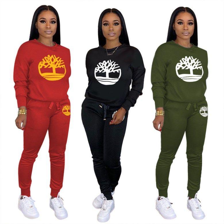 Womens abbigliamento sportivo a maniche lunghe 2 tute Set abiti sexy tuta da jogging sport felpa leggings abiti usura di notte klw2936 molto calda