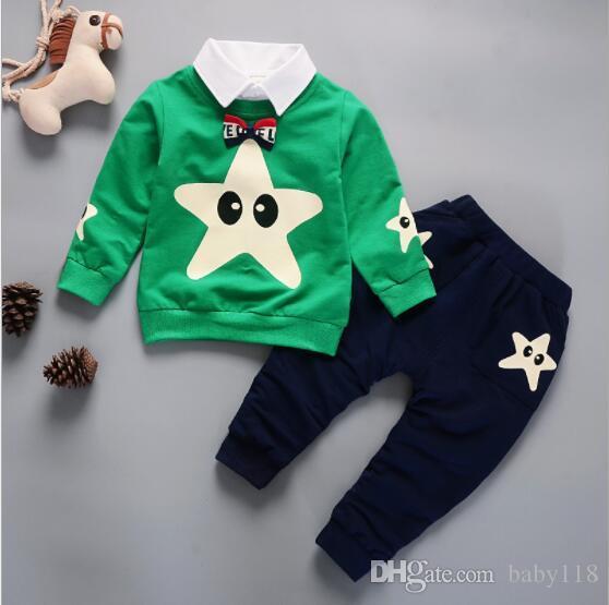 Un nuovo marchio più venduto vestiti primaverili coreana del vestito del bambino vestito dei bambini del manicotto del ragazzo lungo di vendita diretta collare soddisfare staccabile